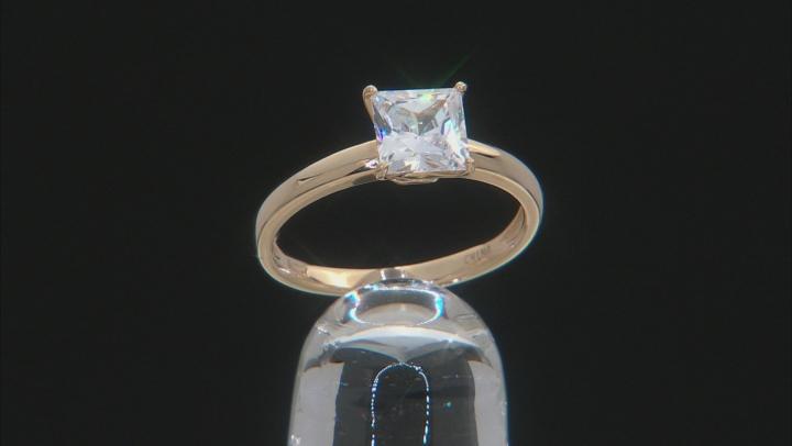 White Cubic Zirconia 14k Yg Ring 2.50ctw