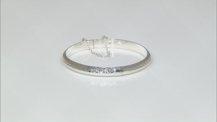 Sterling Silver Hinged Bangle Bracelet 7 inch