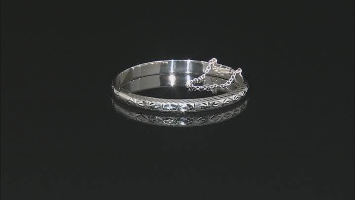 Sterling Silver Bangle Bracelet 7 inch