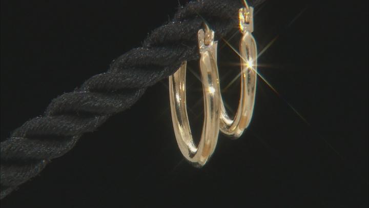 10k Yellow Gold Tube Hoop Earrings 1.5mm Gauge