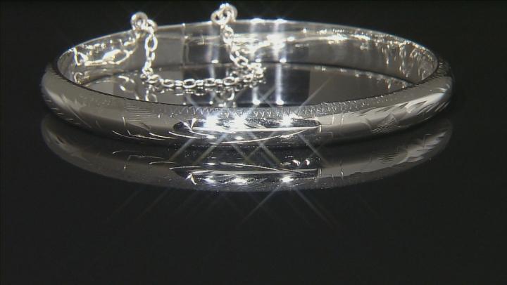 Sterling Silver Bangle Bracelet 7 inch 6.5mm