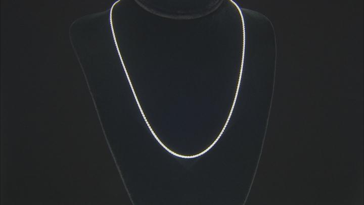 Sterling Silver 1mm Diamond Cut Wheat Chain 20 inch