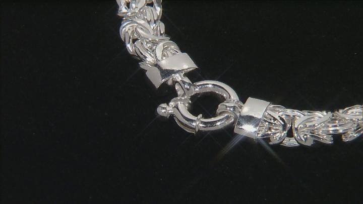 Sterling Silver 7mm Byzantine Bracelet 7.5 inch