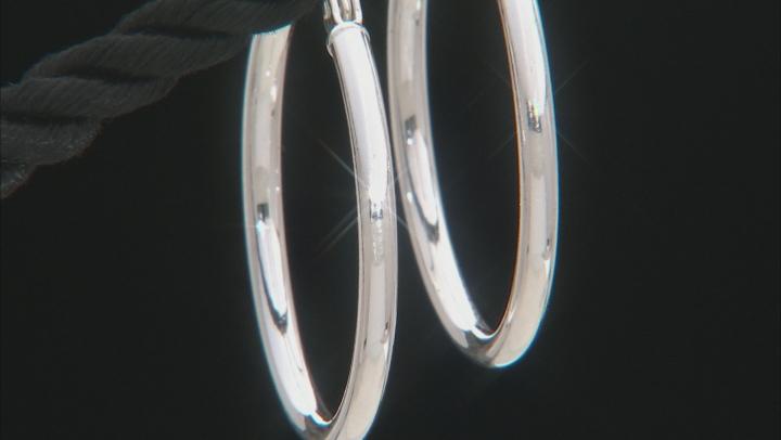 Sterling Silver 21MM Hoop Earrings