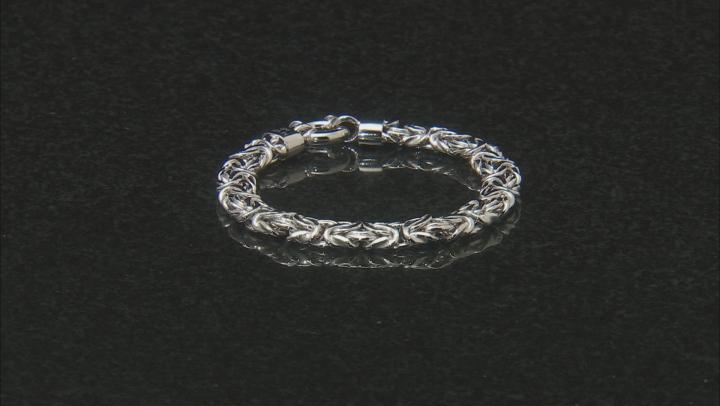 Sterling Silver Byzantine Bracelet 7 Inch