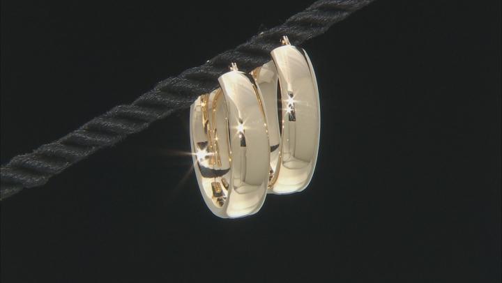 10K Yellow Gold 19MM Polished Hoop Earrings