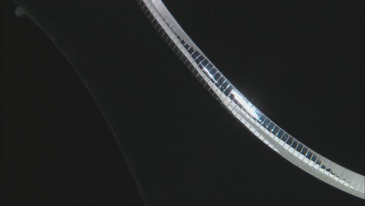 Sterling Silver 5.5 MM Polished Omega Necklace 18 Inch