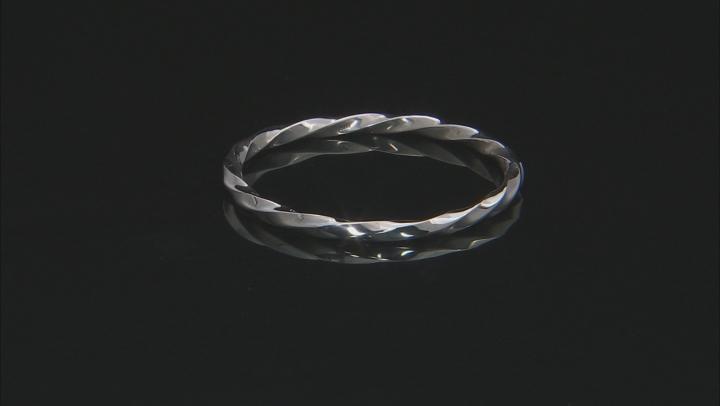 Sterling Silver Diamond Cut Trio Slip on Bangle. 8 inch.