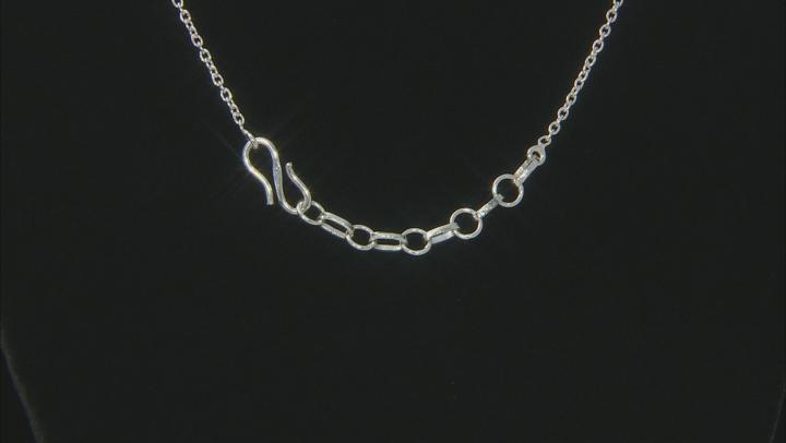 Blue Larimar Sterling Silver Necklace 24.00ctw