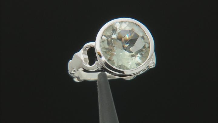Green Prasiolite Sterling Silver Ring 4.25ctw