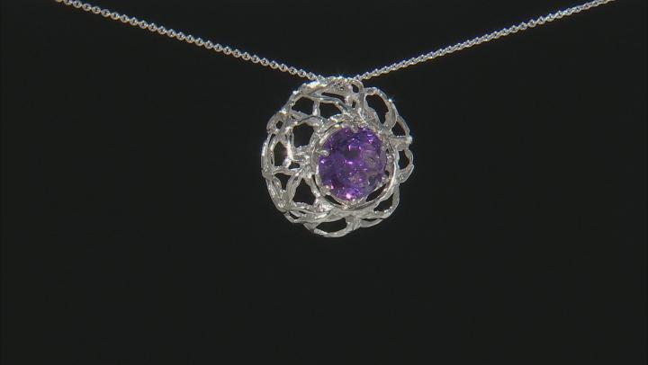 Multi-Gemstone Rhodium Over Silver Interchangeable Pendant 16.00ctw