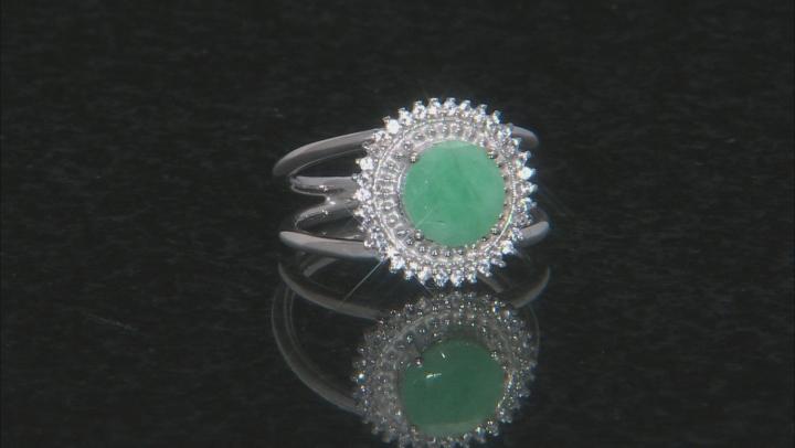 Green Brazilian Emerald Sterling Silver Ring 1.78ctw