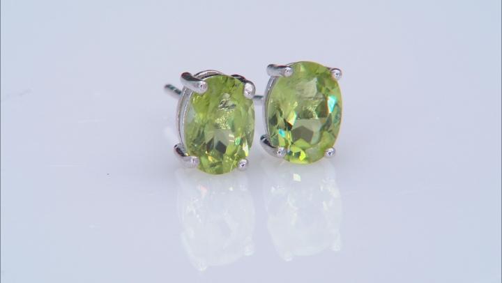 Multi-Gemstone rhodium over silver stud earrings 9.00ctw