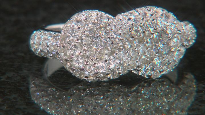 White Zircon Rhodium Over Sterling Silver Ring 2.00ctw