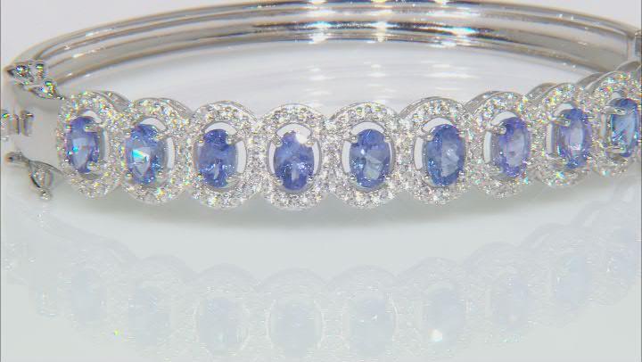 Blue Tanzanite Sterling Silver Bracelet 8.00ctw