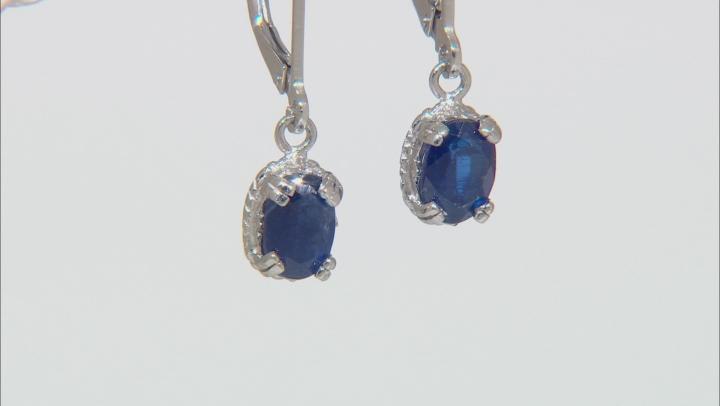 Blue Kyanite Sterling Silver Earrings 1.50ctw