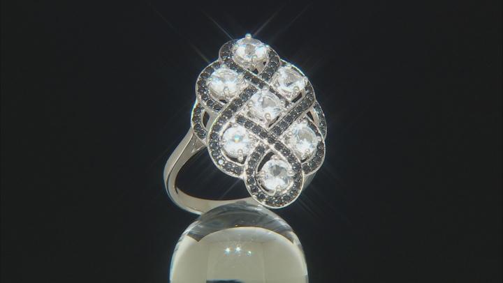 White Goshenite Rhodium Over Sterling Silver Ring 2.26ctw