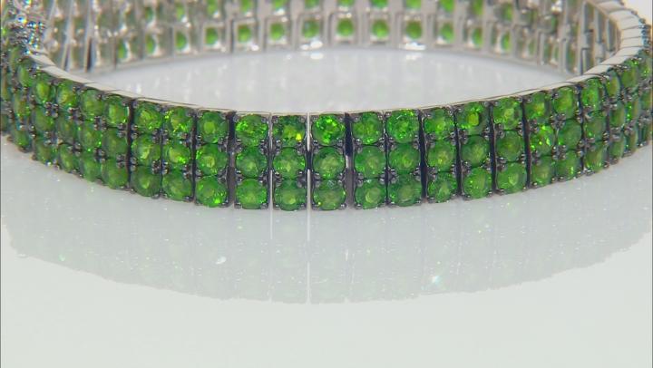 Green Chrome Diopside Rhodium Over Silver Bracelet 12.25ctw