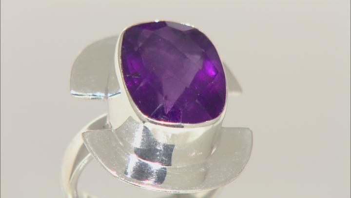 Purple Amethyst Sterling Silver Ring 9.00ct