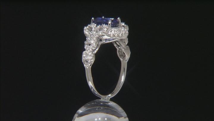 Blue Kyanite Sterling Silver Ring 3.18ctw