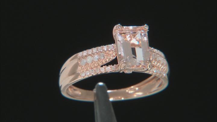 Pink Morganite 14k Rose Gold Ring 1.62ctw