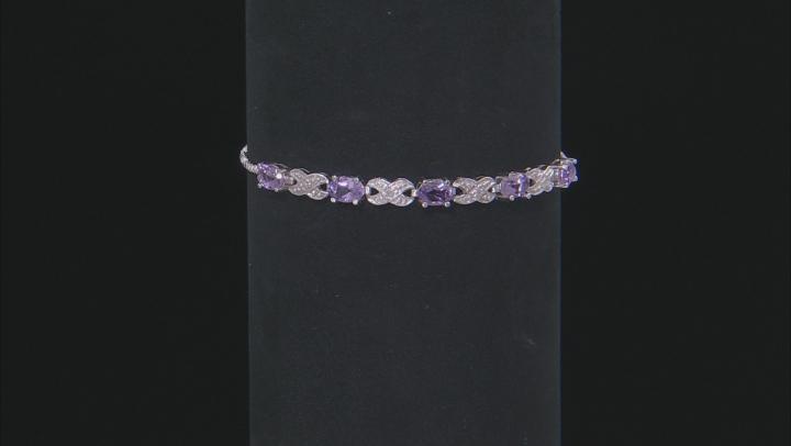Orchid Amethyst Rhodium Over Sterling Silver Sliding Adjustable Bracelet 1.75ctw