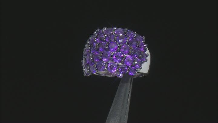 Purple Amethyst Sterling Silver Ring 2.50ctw
