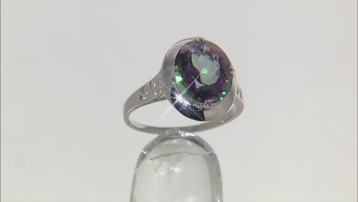 Multicolor Quartz Sterling Silver Ring 4.00ct