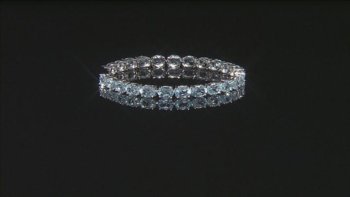 Blue Topaz Sterling Silver Bracelet 19.40ctw