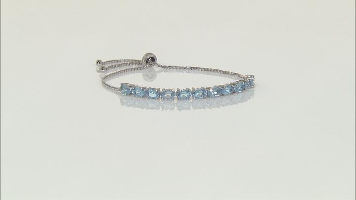 Swiss Blue Topaz Sterling Silver Bracelet 5.91ctw