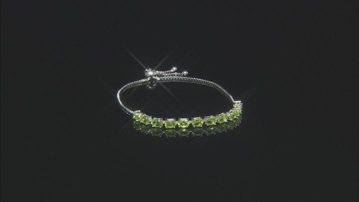 Green Peridot Sterling Silver Bracelet 4.40ctw