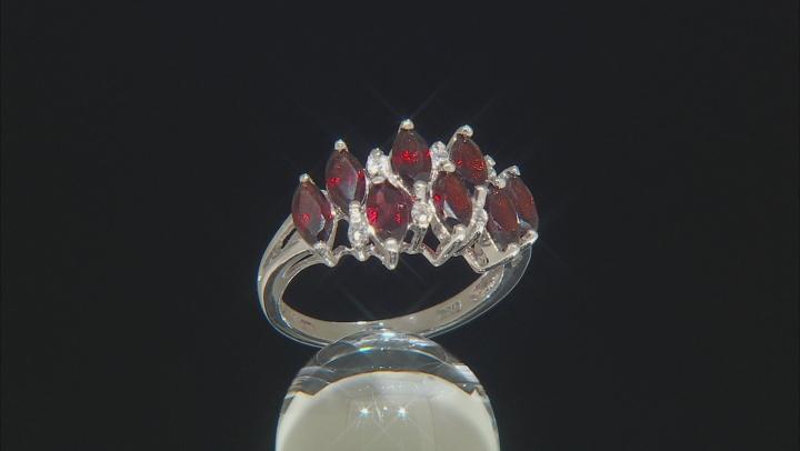 Red Garnet Sterling Silver Rings 1.93ctw