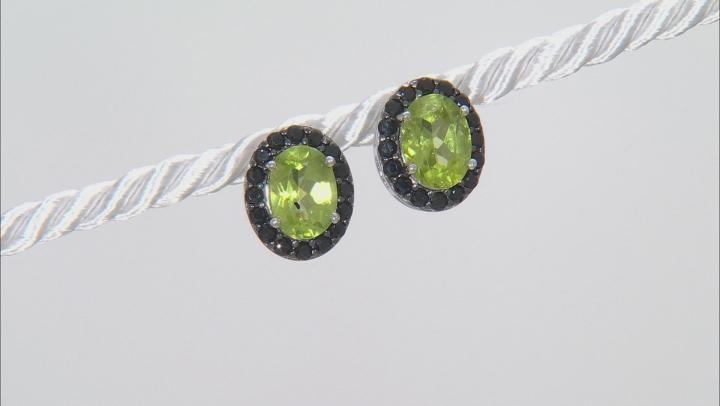 Green Peridot Sterling Silver Earrings 3.40ctw