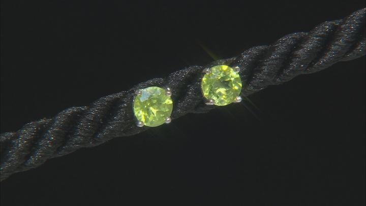 Multi-Gem Rhodium Over Sterling Silver 5 Pairs Earrings Set 5.00ctw