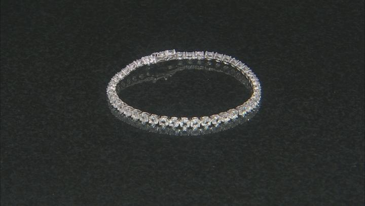 White Goshenite Sterling Silver Tennis Bracelet 9.00ctw