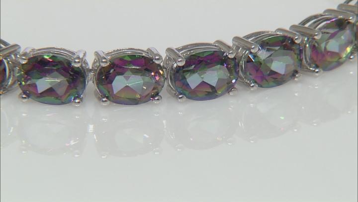Multicolor Topaz Sterling Silver Tennis Bracelets 28.00ctw