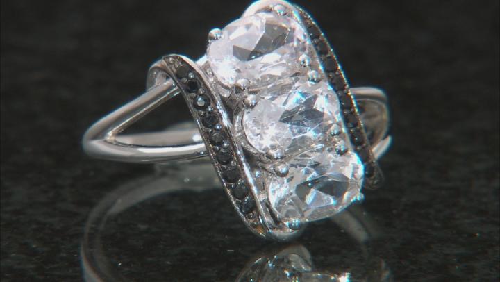 White Danburite Sterling Silver Ring 2.22ctw