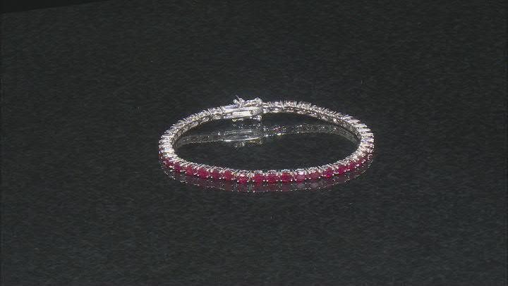 Mahaleo Ruby Sterling Silver Tennis Bracelet 10.00ctw
