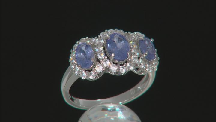 Blue Tanzanite Silver Ring 2.65ctw