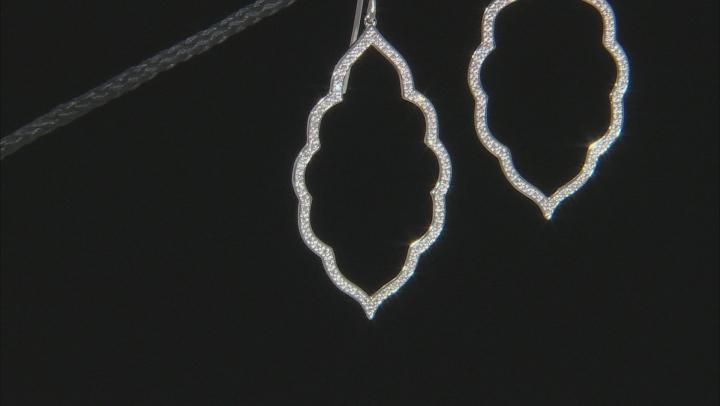 White Diamond 10K White Gold Earrings 0.26ctw