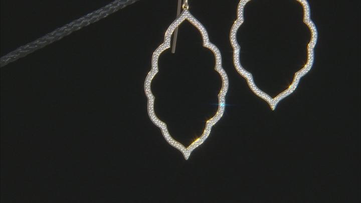 White Diamond 10K Yellow Gold Earrings 0.26ctw