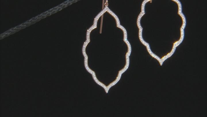 White Diamond 10K Rose Gold Earrings 0.26ctw