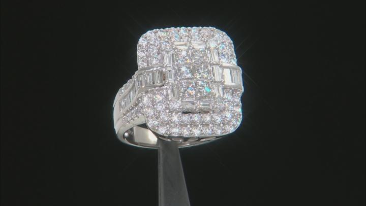 White Diamond 14K White Gold Ring 3.03ctw