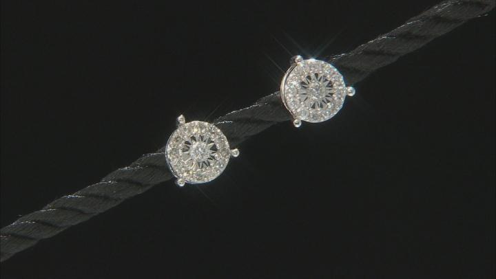 White Diamond 10K White Gold Earrings 0.52ctw