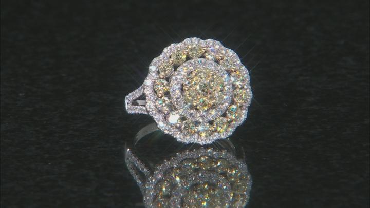 Natural Yellow & White Diamond 14K White Gold Ring 2.00ctw