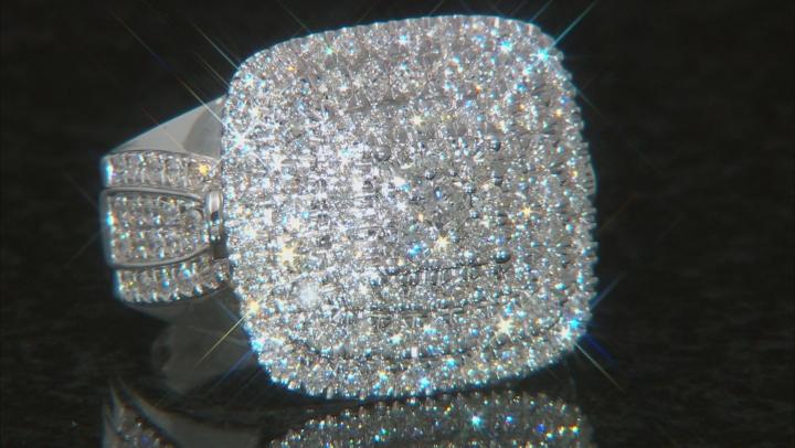 White Diamond 14K White Gold Cluster Ring 2.00ctw