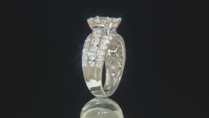 White Diamond 14K White Gold Cluster Ring 3.00ctw