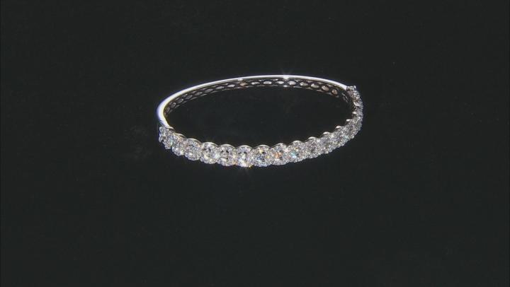 White Diamond 14K White Gold Bangle Bracelet 2.00ctw