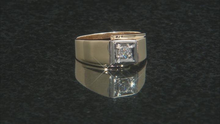 White Diamond 14K Yellow Gold Mens Ring 0.20ctw