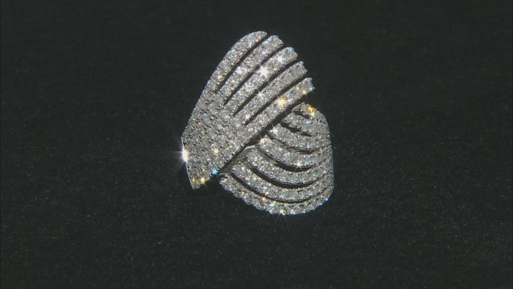 White Diamond 14K White Gold Cocktail Ring 2.20ctw